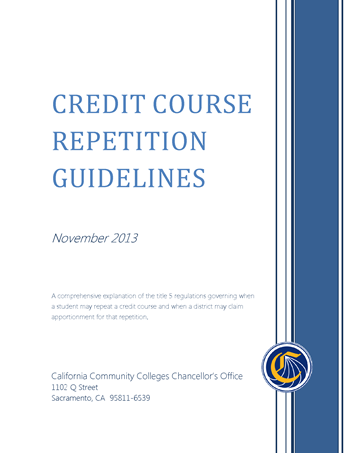 Credit Course Repetition Guidelines PDF
