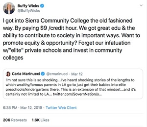 This image shows a Twitter post from Assemblymember Buffy Wicks